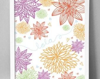 "Printable Wall Art - Flower Blossoms - 8.5""x10"""