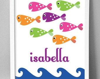 """Printable Wall Art - Cool Girl Fish - 8.5""""x10"""""""