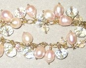 Dangle Cluster Braclets with pearls and crystals