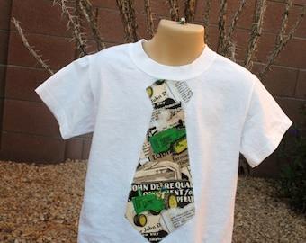 John Deere tie tshirt