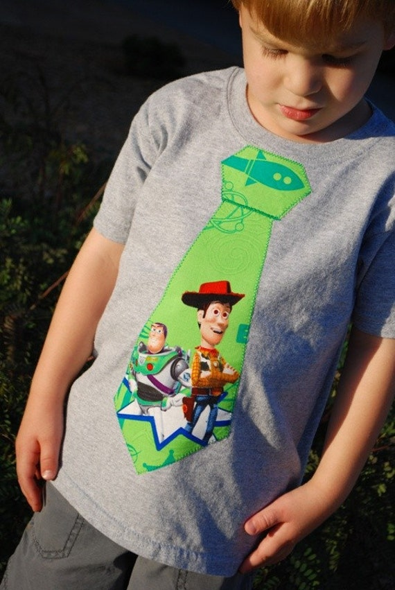 Toy Story Tie T-shirt with Woody and Buzz Lightyear