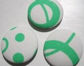 Acid Green Loop da Loop Buttons - Giant - Set of 3