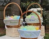 BOYS Monogrammed Easter Basket Liner-Choose from 14 Fabrics