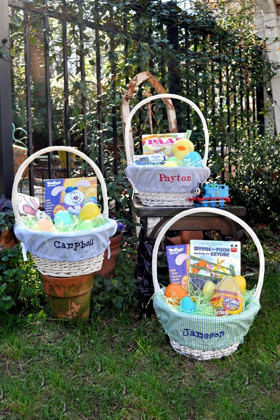 Monogrammed Boys Easter Basket Liner Choose From 12 Fabrics