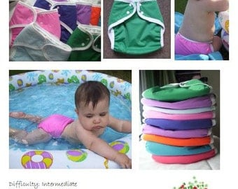 Reusable Cloth Swim Diaper- PDF sewing pattern