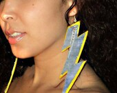 Trendy Fashion Statement earrings ...STORM with a splash of SUNSHINE...