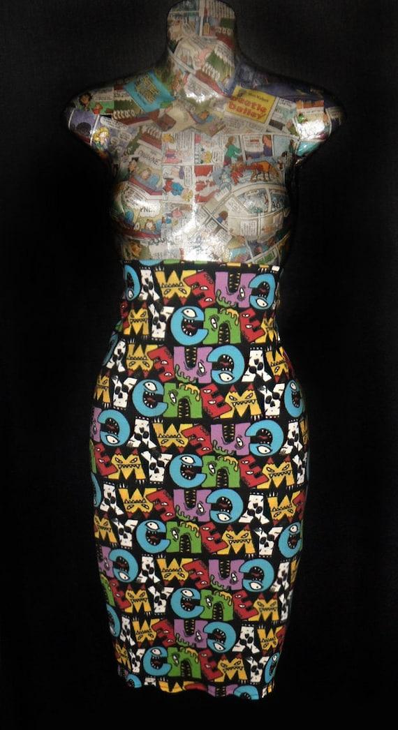 Hot High Waist Pencil knee skirt ...ENEMY MONSTER...