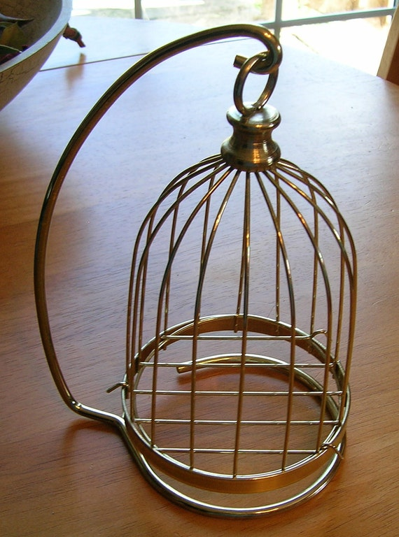 Vintage 1990s Home Interiors Bird Cage And Stand