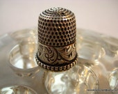 Sterling Silver Thimble Size 7 Simons Sewing Quilting Hand