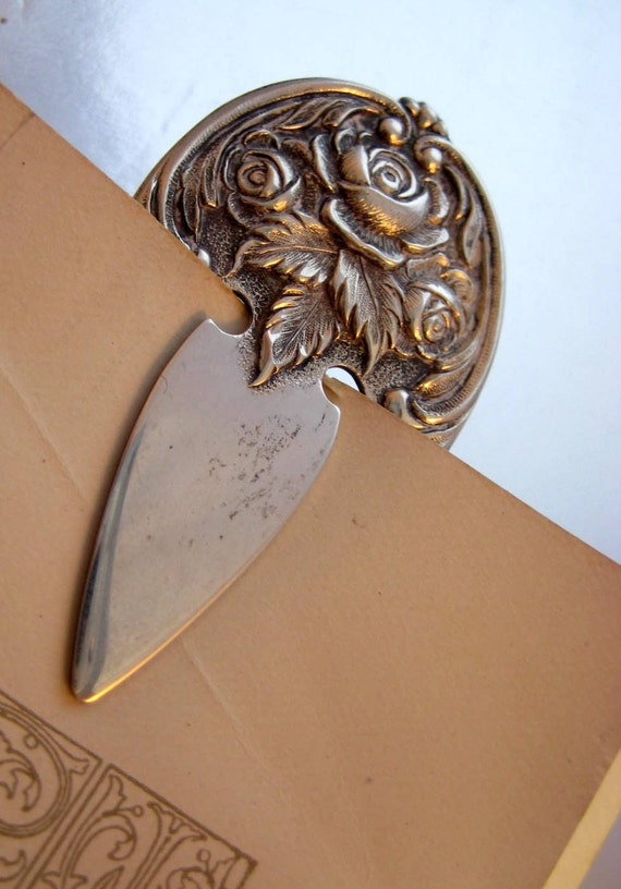 S. Kirk and Son Sterling Silver Bookmark Roses 9 10g