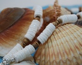 White Clam Shell Necklace