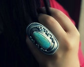 Pool of Tranquility - Turquoise Sterling Silver Ring