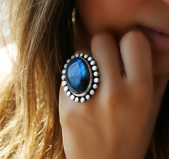The Soul's Mirror - Labradorite Sterling Silver Ring