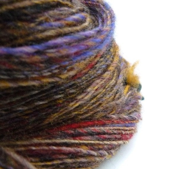 Ginger HandSpun SuperWash Wool Yarn (200 yds) FREE SHIPPING