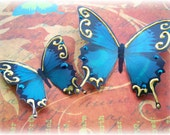 Iron Maiden Sheer Blue Butterfly Embellishments
