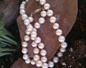 Cream Colored Faux Pearls