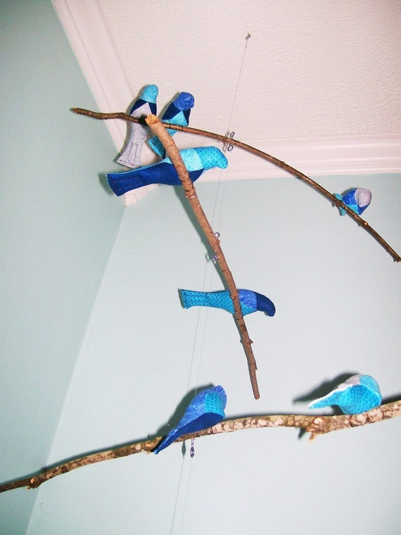 4-Tiered Natural Bird Mobile
