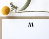 Monogram Letterpress Stationery. Set of 10