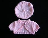 Bubble Gum Shrug and Beret.  A Knitting Pattern That Fits 18 Inch, American Girl, and Natterer Dolls.