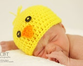 Chick Hat - boy or girl - newborn baby to 6 mo sizes  - Photography Prop