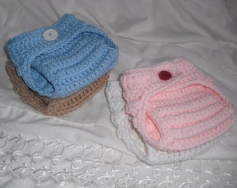 Adjustable Baby Diaper Covers - Button Up - newborn to 12 mo sizes - made to order