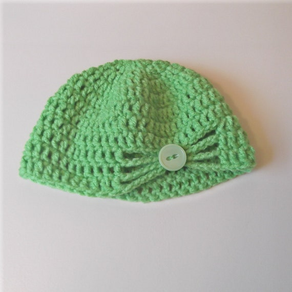 SALE Flapper Hat - Spring Green - 6-12 mo baby girl - ready to ship