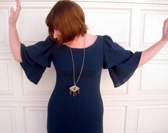 Bell Sleeve Wiggle Dress