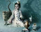 Little Empress, Postcard Art Prints Set of 10, Inspired by Alice in Wonderland