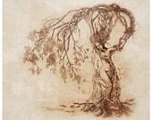 Hedgewitch, Dryad Art Print 11.5 X 14 inch