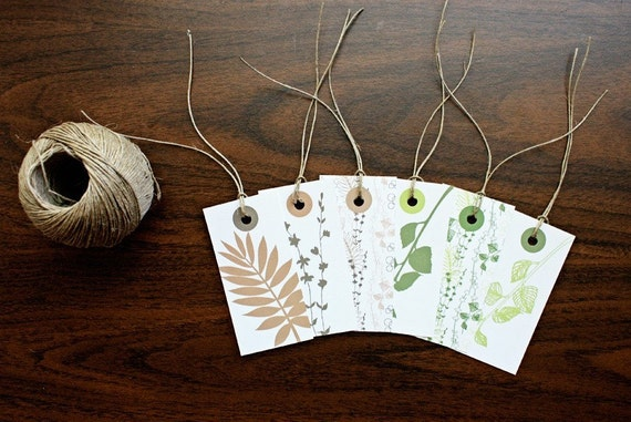 Foliage Silhouette Gift Tags