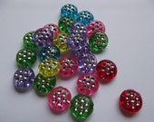 Mixed Color Acrylic Beads - 40 Bright Pieces