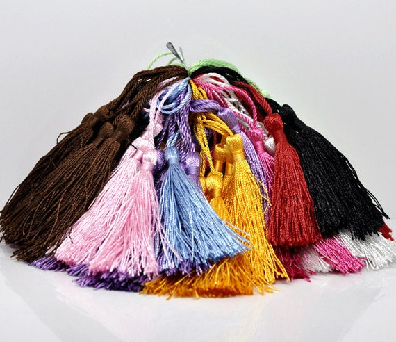 Mix Tassel Set - Silky Tassels For Crafting - 10 Pieces