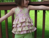 Pretty in Pink Ruffled Halter Top--Custom Listing--