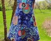 Mod Floral Reversible Pinafore--Custom Listing--