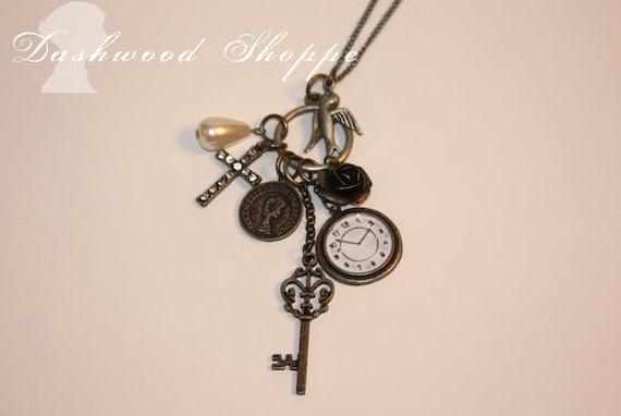 Lovely Lady Jane Vintage Silver charm necklace