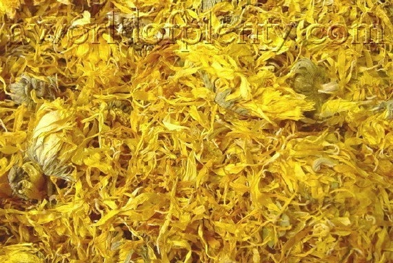 Calendula Flowers and Petals, Dried - (Pot Marigold) 4 oz  (5 cups) FREE SHIPPING
