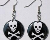 Skull And Crossbones - Button Earrings