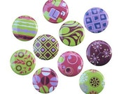 Modern Chic - Set of 10 Buttons Pinbacks Badges 1 inch