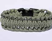 Paracord Survival Bracelet Half Hitch - ACU Camo