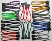 Set of 3 Paracord Basic Zipper Pulls - You Choose The Colors