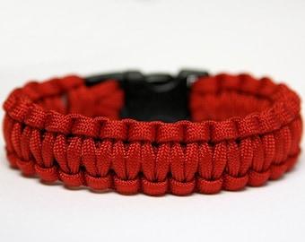 550 Paracord Survival Bracelet Cobra - Red