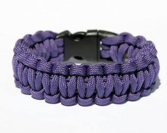 Paracord Survival Bracelet - Purple