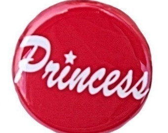 Princess - Button Pinback Badge 1 inch