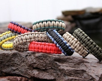 550 Paracord Survival Bracelet - You Choose The Colors