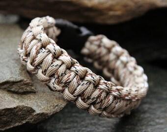 Paracord Survival Bracelet - Desert Camo