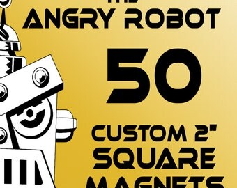 50 Custom Professionally Made 2 inch Square Magnets