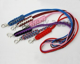 Paracord Neck Lanyard - over 100 colors to choose from - for ID Keys and more