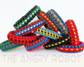 550 Paracord Survival Bracelet - Superhero Inspired Colors