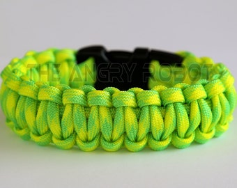 550 Paracord Survival Bracelet  - Dayglow Yellow Green