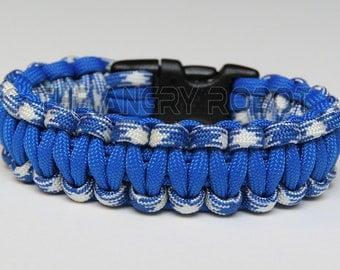 550 Paracord Survival Bracelet  - Blue Combo and Royal Blue